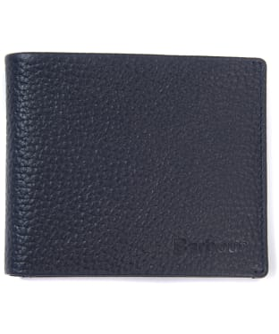 Men's Barbour Laddon Leather Billford Wallet - Navy