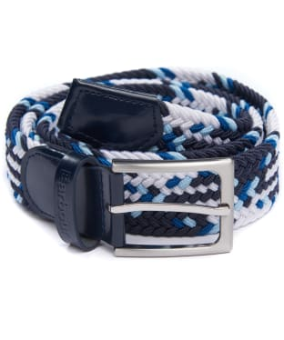 Men's Barbour Tartan Ford Belt - Blue / White