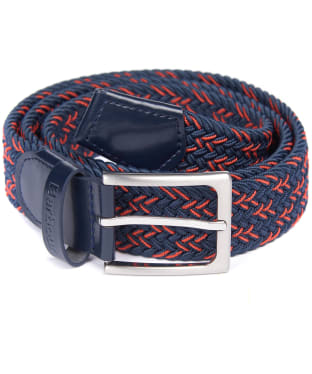 Men's Barbour Mariner Ford Belt - Navy / Orange