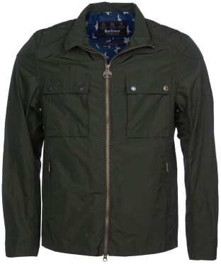 Men's Barbour International Steve McQueen Ashbury Casual Jacket - Sage