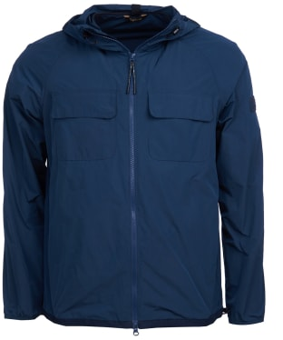 Men's Barbour International Boldon Hooded Casual Jacket - Navy