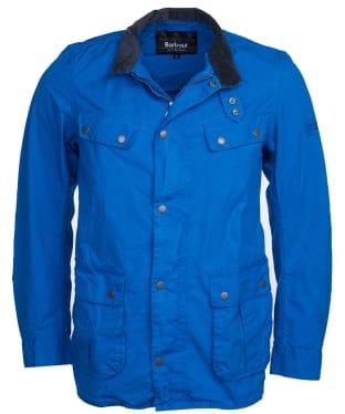 Men's Barbour International Summer Wash Duke Casual Jacket - Azurite