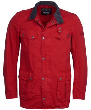 Men's Barbour International Summer Wash Duke Casual Jacket - Scarlet