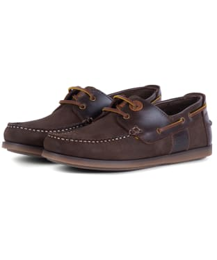 Men's Barbour Capstan Boat Shoes - Brown Nubuck