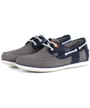 Men's Barbour Capstan Boat Shoes - Grey / Navy