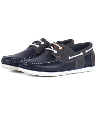 Men's Barbour Capstan Boat Shoes - Navy / Grey