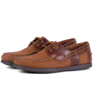 Men's Barbour Capstan Boat Shoes - Cognac / Dark Brown