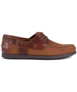 Men's Barbour Capstan Boat Shoes - COGNAC/DK BROWN