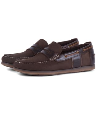 Men's Barbour Keel Boat Shoes - Brown Nubuck