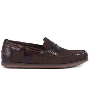 Men's Barbour Keel Boat Shoes - Brown Nubuck