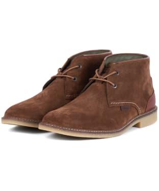 Men's Barbour Kalahari Desert Boots - Dark Sand Suede