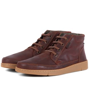 Men's Barbour Wombat Boots - Rust Suede