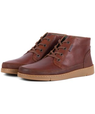 Men's Barbour Wombat Boots - Cognac Grain Leather