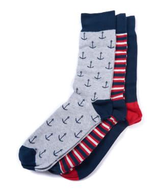 Men's Barbour Nautical Sock Gift Set