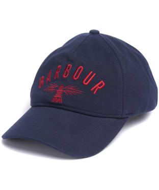 Men's Barbour Hartland Sports Cap - Navy / Red