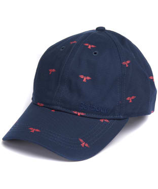 Men's Barbour Burnham Sports Cap - Navy / Red