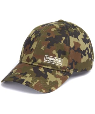 Men's Barbour International Camo Sports Cap - Camo Green