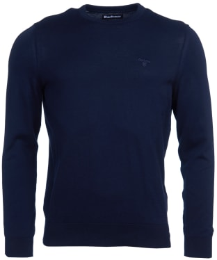 Men's Barbour Light Cotton Crew Neck Sweater - Navy