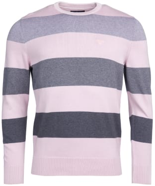 Men's Barbour Galley Stripe Crew Sweater - Chalk Pink