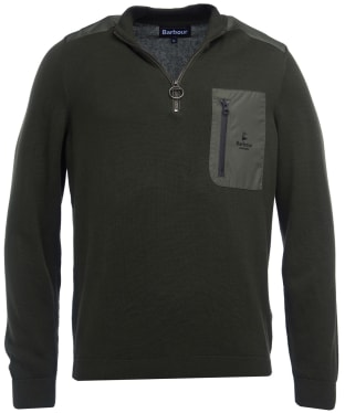 Men's Barbour Almarine Half Zip Sweater - Sage