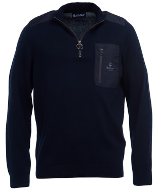 Men's Barbour Almarine Half Zip Sweater - Navy