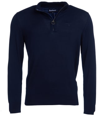 Men's Barbour Tain Half Zip Sweater - Navy