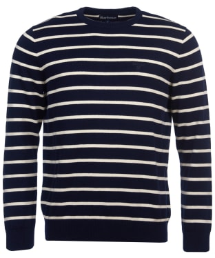 Men's Barbour Bight Stripe Crew Neck Sweater - Navy