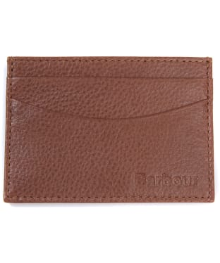 Men's Barbour Amble Leather Card Holder - Tan