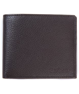 Men's Barbour Amble Leather Billfold Wallet - Dark Brown