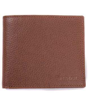 Men's Barbour Amble Leather Billfold Wallet - Tan