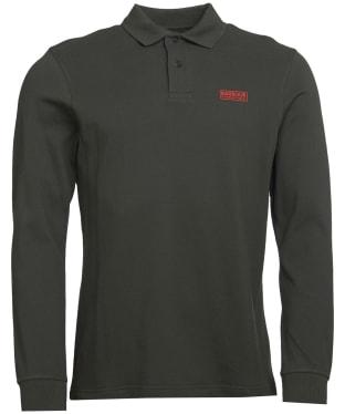 Men's Barbour International Long Sleeve Polo Shirt - Jungle Green