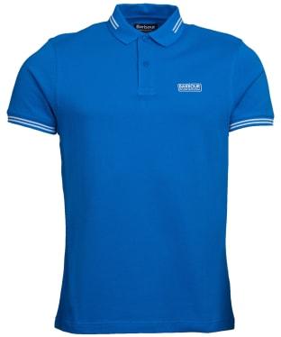 Men's Barbour International Essential Tipped Polo Shirt - Neela Blue