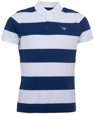 Men's Barbour Harren Stripe Polo Shirt - Regal Blue