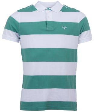 Men's Barbour Harren Stripe Polo Shirt - Nevada Green