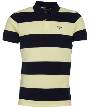 Men's Barbour Harren Stripe Polo Shirt - Lemon Zest
