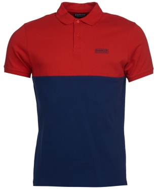 Men's Barbour International Cotter Polo Shirt - Lava