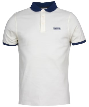 Men's Barbour International System Polo Shirt - Whisper White