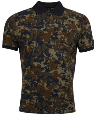 Men's Barbour International Hem Camo Polo Shirt