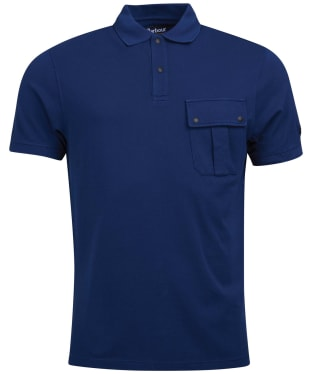 Men's Barbour International Hud Pocket Polo Shirt - Washed Regal Blue