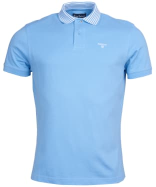 Men's Barbour Brathay Tipped Polo Shirt - Colorado Blue