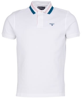 Men's Barbour Hawkeswater Tipped Polo Shirt - White
