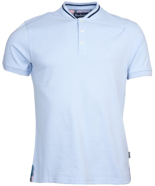 Men's Barbour Galloch Sports Collar Polo Shirt - Heritage Blue