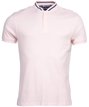 Men's Barbour Galloch Sports Collar Polo Shirt - Chalk Pink