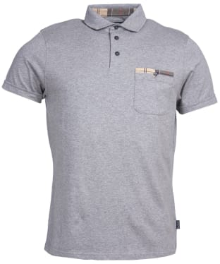 Men's Barbour Corpatch Cotton Jersey Polo Shirt - Grey Marl
