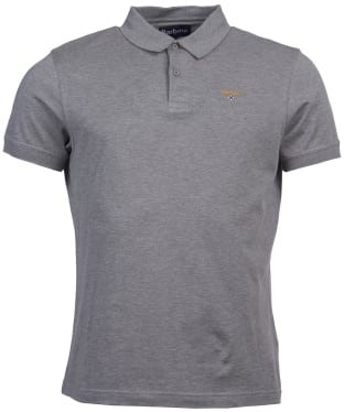 Men's Barbour Saltire Mercerised Polo Shirt - Grey Marl