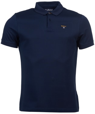 Men's Barbour Saltire Mercerised Polo Shirt - Navy