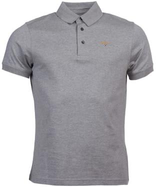 Men's Barbour Saltire Pima Jersey Polo Shirt - Grey Marl