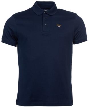 Men's Barbour Saltire Pima Jersey Polo Shirt - Navy
