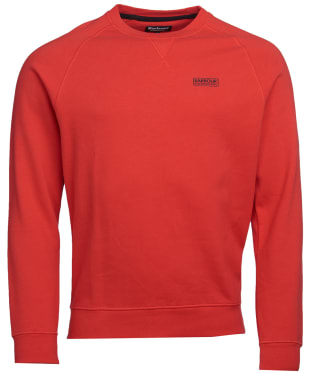 Men's Barbour International Essential Crew Neck Sweat - Lava