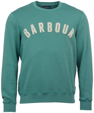 Men's Barbour Prep Logo Crew Sweater - Nevada Green